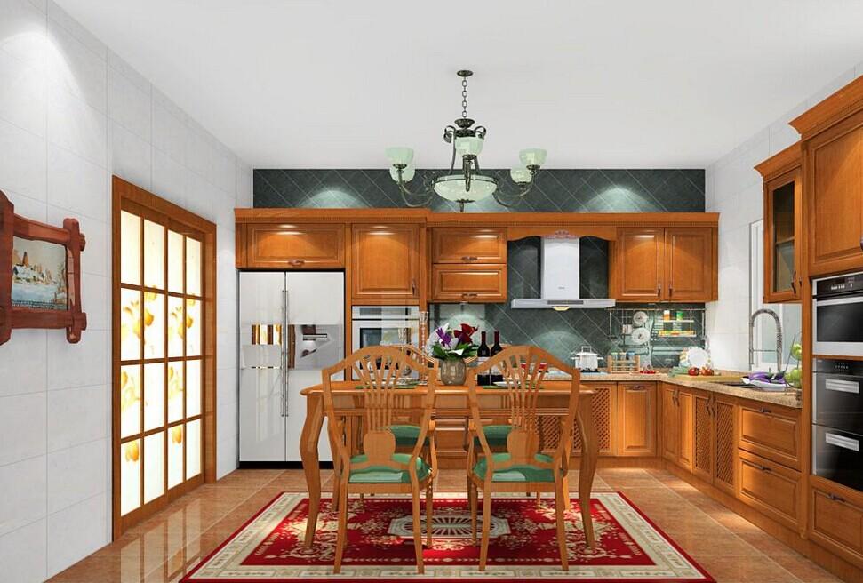 三居室中式厨房装修效果图