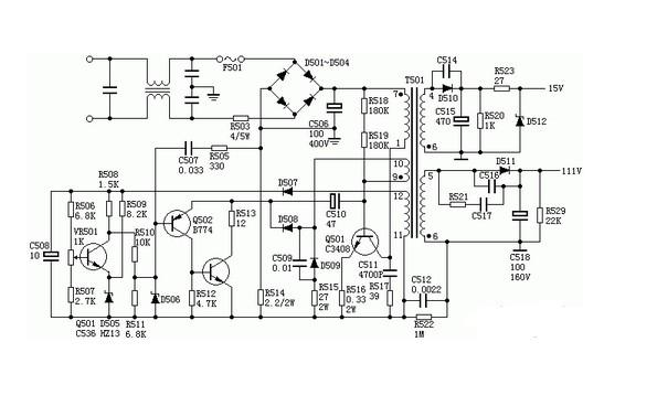 电路图详解:家用开关电源电路图分析