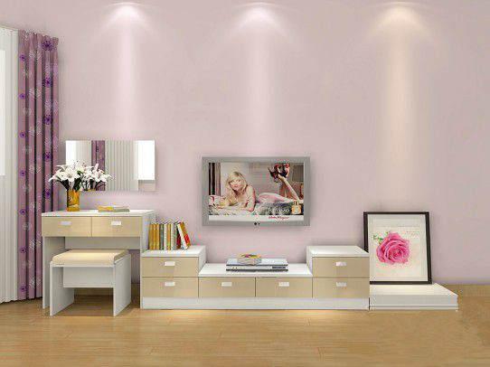 电视柜装修效果图二:很简约的电视柜设计,没有华丽的装饰,却有一