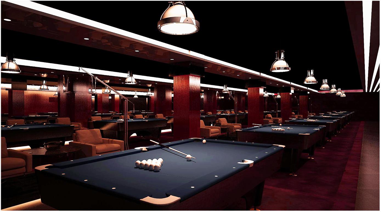 台球厅装修效果图 台球厅装修图片