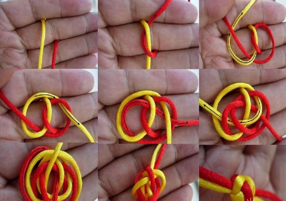 在日常生活当中,一些女孩子都喜欢戴上一些红手绳,有的是那种情侣的手绳。纽扣象征着喜庆吉祥,并且还预示着情侣之间的永结同心。下面小编就给大家介绍一些双线纽扣结编法大全。希望能够帮助到大家!    双线纽扣结编法图解:   步骤一,将两根线夹在两个指缝间,并打个单结;   步骤二,红线顺时针转从环线下面绕过,黄线顺时针转从红线下面绕过;   步骤三,黄线由下面穿入红线圈中,红线压1挑2出;   步骤四,黄线挑两根红线,中心形成方形孔;   步骤五,黄线顺时针转过下面红线,从中间孔中穿过;红线顺时针转过下面