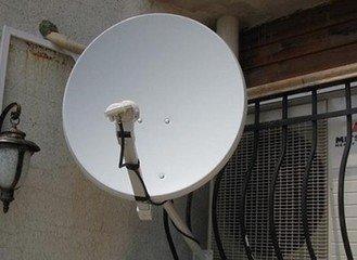 小锅卫星电视接收器