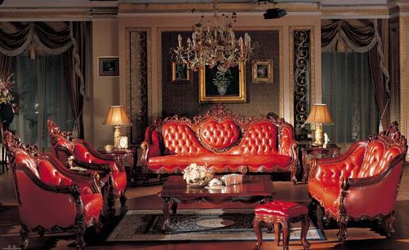 欧式风格家具特点常以白色,咖啡,黄色,绛红为主色调,少量白色糅合,使