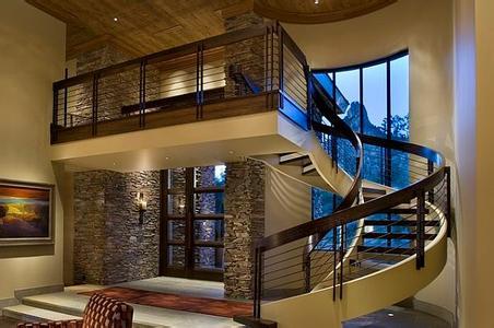铁艺楼梯:适合欧式古典风格