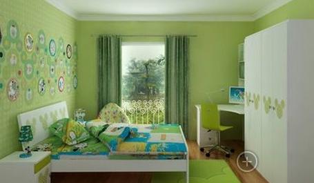 天花板的颜色应浅于室内装修墙面颜色,或与墙面同色,从空间来将,上轻