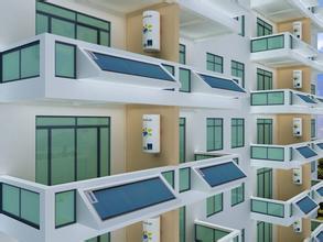 100升沐阳阳台壁挂太阳能分体式平板太阳能热水器_八方资源网