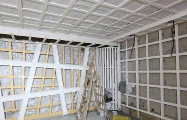 石膏板隔墙龙骨结构图