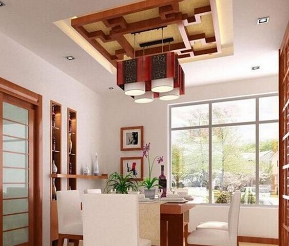 客厅圆形顶龙骨结构效果图