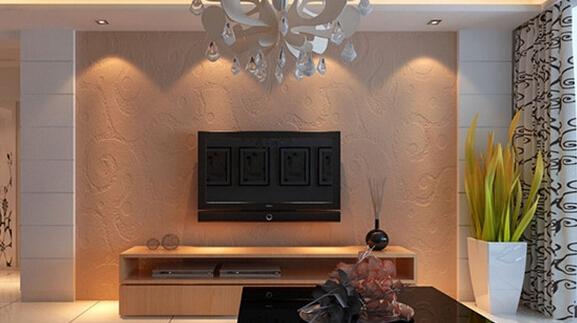 这一款硅藻泥电视背景墙属于欧式