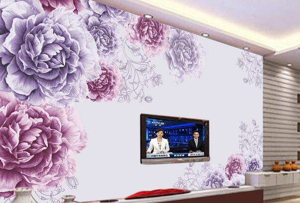 手绘电视背景墙的方法