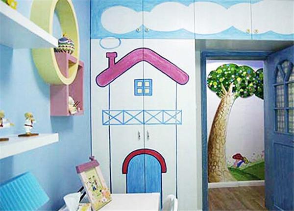 儿童房手绘墙画案例赏析