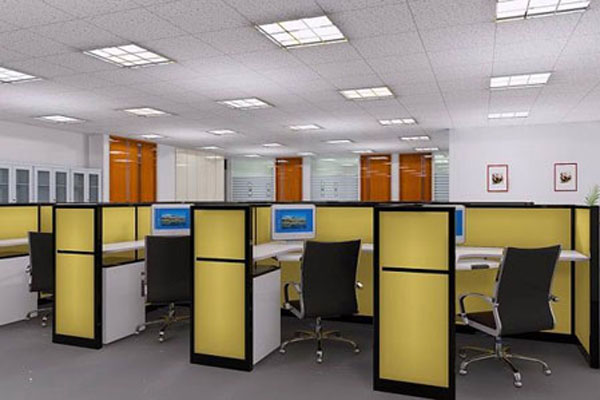 办公室的窗户要常常敞开,窗帘则以蓝色最优,在桌上放一盏可爱的米白色